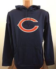 Nike Men's Size M Medium Therma-FIT Sweatshirt Blue NFL Football Chicago Bears