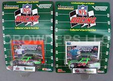 Nfl Racing Car & Card Set Denver Broncos & Indianapolis Colt Racing Champ Nascar