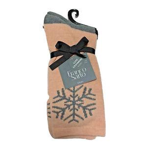 Franco Sarto 2 pair Cashmere blend womens socks warm comfort gift ready splurge