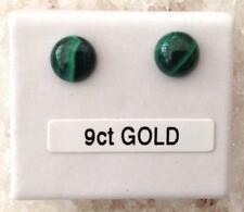 Malachite Yellow Gold Fine Earrings