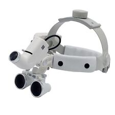 Dental 5W LED 3.5X Surgical Medical Headband Loupe with Light Silver DY-106 New