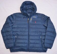 New Large L POLO RALPH LAUREN Mens packable puffer down jacket coat Navy blue