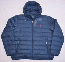 New Medium M POLO RALPH LAUREN Mens packable puffer down jacket coat Navy blue