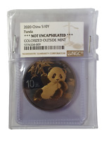 10 Yuan 2020 China Panda Golden Enigma Edition Vergoldet, Ruthenium NGC Original