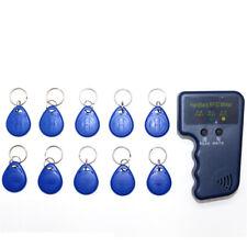Blu 10pcs EM4305 ID Riscrivibile Portachiavi Tag Carta Palmare 125KHz EM4100 RFID Copiatrice Writer Duplicatore Programmatore Reader