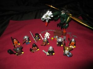 LEGO Castle Dragon  Minifigures LOT Knights, Dwarves ,Soldiers,Weapons,Armor .