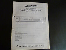 Original Service Manual Mitshubishi UKW/AM Tuner DA-F55