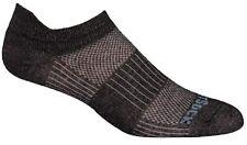 Wrightsock Men's Coolmesh II Lo Socks (2 PACK - Black Marl / White) Size Medium
