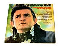 "The World Of Johnny Cash Double Vinyl LP Record 12"" Gatefold Rock 60's 70's juke"