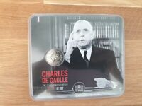 2 Euros Commémorative BU France 2020 Charles de Gaulle - Coincard Officielle