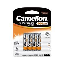 Top qualité Blister de 4 accus 900mAh piles rechargeables Camelion AAA / R03