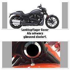 Night Rod,V-Rod, Muscle, 1 Stück Alu schwarz glänzend eloxiert  Lenkkopf-Cover