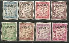 ANDORRA Francesa Tasa yvert 1-8 ** MNH 1931
