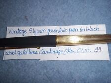 Vintage StyPen fountain pen in grey & gold tone, cartridge fill (New fitted) GWO