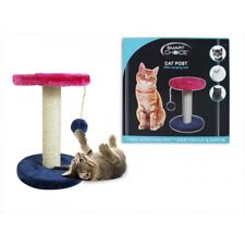 Cat Scratching Post With Hanging Ball Scratcher Play & Exercise Blue Pink