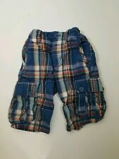 Gap Kids Boys Plaid Shorts 6 Blue