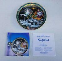 """Bing & Grondahl Copenhagen Porcelain """"The Journey"""" Plate 1991 Signed"""