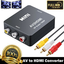 Mini AV to HDMI Video Audio Converter Composite RCA to HDMI Adapter with Cable