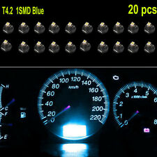 20PCS Ice Blue T4 T4.2 Neo Wedge 1-SMD LED Cluster Instrument Dash Climate Bulbs