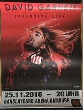 DAVID GARRETT 1  2016 HAMBURG   -- orig.Concert Poster - Konzert Plakat A1 xx