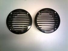 "PAIR BOAT PLASTIC ROUND VENTS BLACK MARINE RUGGED ABS PLASTIC 4 5/8"" (4"" HOLE)"