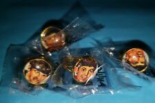 LOT X 4 THE BEATLES ROCK &  POP METAL RING COLLECTIBLE ITEM MADE IN URUGUAY