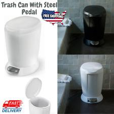 Trash Can Lid Bathroom Bedroom Bin Kitchen Step Pedal Waste Basket Small
