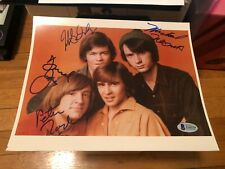 THE MONKEES SIGNED 8X10 PHOTO PETER TORK DAVY JONES AUTOGRAPH DOLENZ BAS LETTER