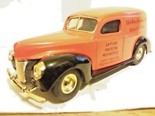 Ertl Ford 1940 Daytona Motorcycle Delivery Van 1:25 Scale Die Cast Bank