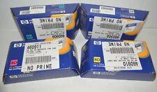 Set of 4 Genuine HP 80 Ink Cartridges -B/C/M/Y- C4871A,C4872A,C4873A,C4874A -New