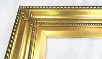 """VINTAGE BIG FITS 30"""" X 42"""" GOLD GILT COUNTRY PRIMITIVE WOOD FRAME FINE ART"""