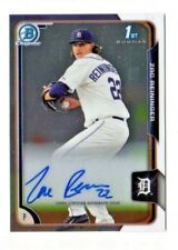 ZAC REININGER MLB 2015 BOWMAN CHROME PROSPECT AUTOGRAPHS (DETROIT TIGERS)