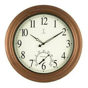 Chaney Clock 50314 Balmoral Antique Copper Atomix Atomic Wall Clock