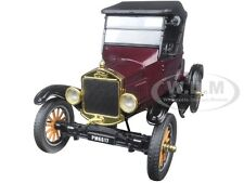 1925 FORD MODEL T RUNABOUT SOFT TOP BURGUNDY 1:24 MODEL CAR BY MOTORMAX 79317