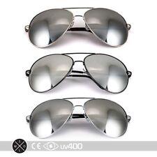 3x - Extra Large Mirrored Oversized Aviator Sunglasses Gold Silver Gun XL S077