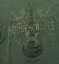 HOUSE OF BLUES Orlando Florida Guitar Lions Logo Souvenir SS T Shirt Size L