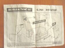 SCALEXTRIC C.701 & C.705 GRANDSTAND & PIT instruction sheet leaflet paperwork