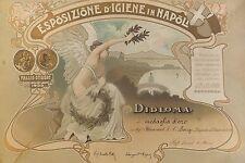 Médaille de H. Blancard à l'Expo d'hygiène, Naples 1900, lithographie en couleur