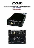 CVBS/S-VIDEO TO HDMI 720p SCALER BOX CYPRESS CYP EUROPE CV-720PHD1