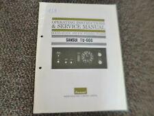 Original Service Manual Schaltplan Sansui TU-666