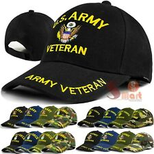Mens US Military Army Navy Marine Air Force Veteran Adjustable Baseball Cap Hat