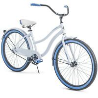 """Huffy 26"""" Cranbrook Womens Cruiser Bike with Perfect Fit Frame - White FREE SHIP"""