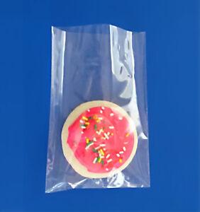 "200 4x6"" Cello Clear Bopp Polypropylene FDA 1.5 Mil Plastic Cookies Bags"