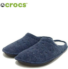 Crocs Nautical Navy Oatmeal Roomy Fit Classic Slippers  Men's Size 12 NWT
