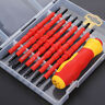 7 PCS Set Electrican's Insulated Electrical Double Head Hand Screwdriver