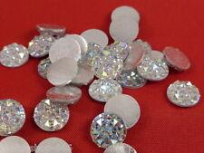25 Glitzersteine  Silber Irisierend 10 mm  Basteln Kartengestaltung  NO hot fix