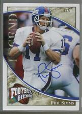 2009 Upper Deck Football Heroes Gold /5 Phil Simms #291 Auto