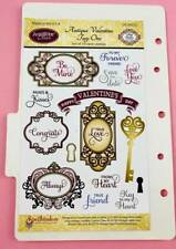 JustRite Stamp Set Antique Valentine Tags One Craft Clearout Heart Key Sentiment