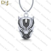 Black Diamond Black Panther Pendant Silver Panther Necklace Superhero Jewelry