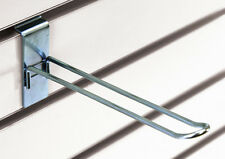 Case of 25 New Retails Zinc Finish Slatwall Loop Hooks 4 Inch Long